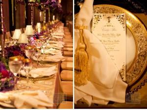 branded wedding table decor
