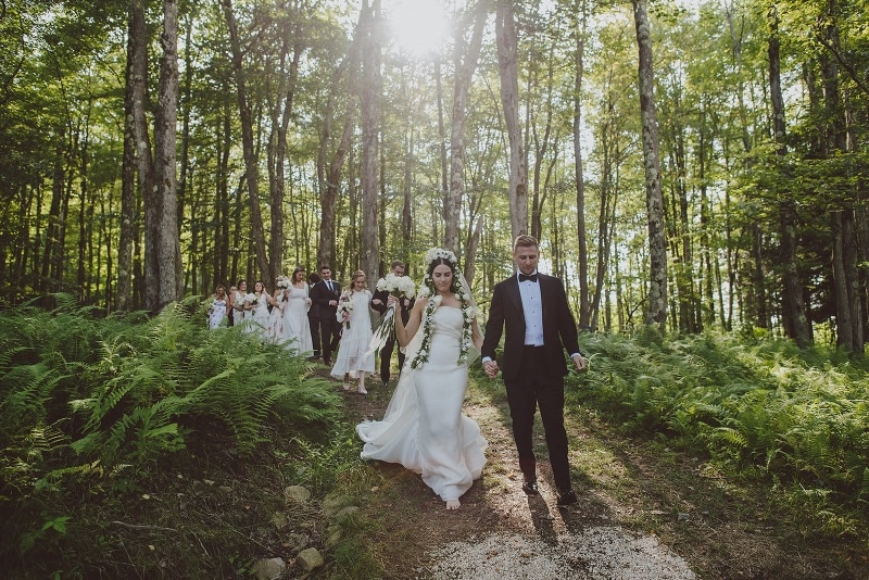 bride and groom - ceremony at handsome hollow