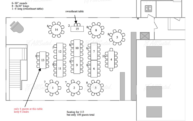 wedding design - floor plan