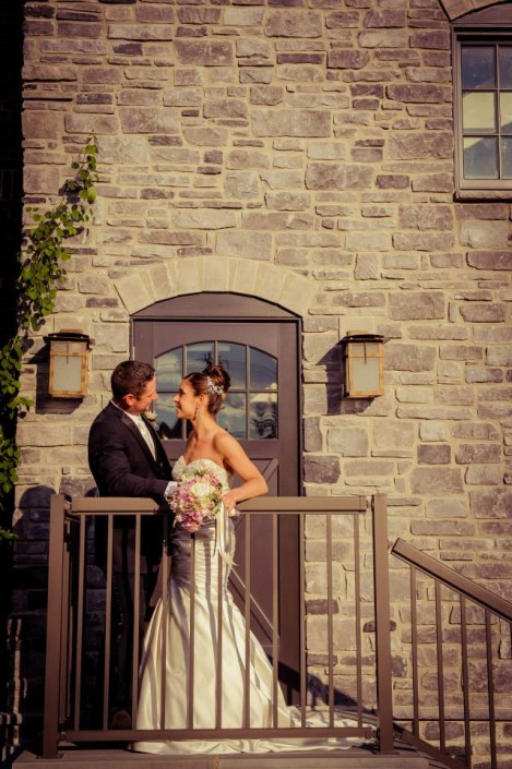Theresa and Chris Diamond Mills staircase