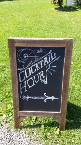 cocktail hour chalkboard