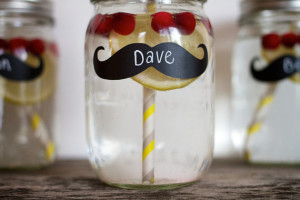 chalkboard drinking glass favor