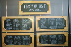 framed seating chalkboards