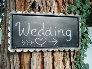 reception chalkboard sign