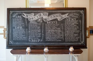 seating chalkboard