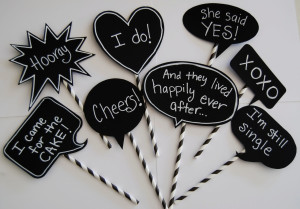 speech bubble chalkboards
