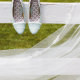 veil and shoes