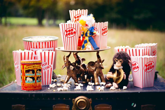 vintage popcorn table