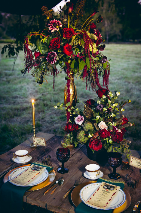 Elite Wedding and Event Planning - dramatic floral centerpiece