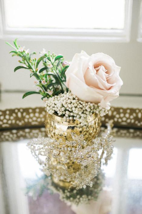 blush rose - mercury glass