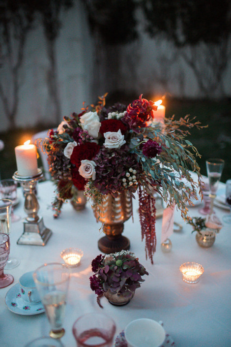 marsala floral arangement
