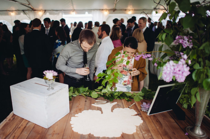 guest book puzzle tree - Boscobel wedding