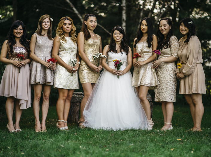 Bride and girls - Elm Rock Inn wedding
