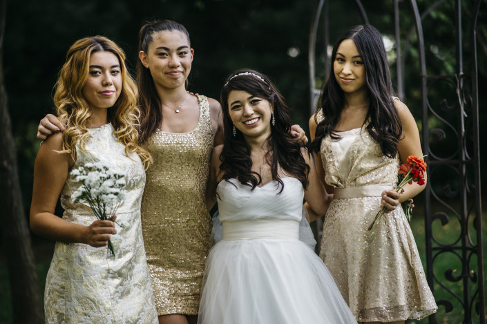 bride and bridesmaids - Elm Rock Inn