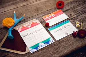 invitation suite by Flyaway Paperworks
