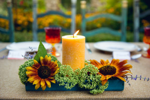 colorful wedding flowers - sunflower