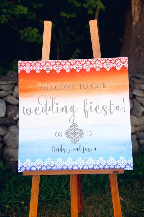 wedding fiesta sign - winding hills golf club