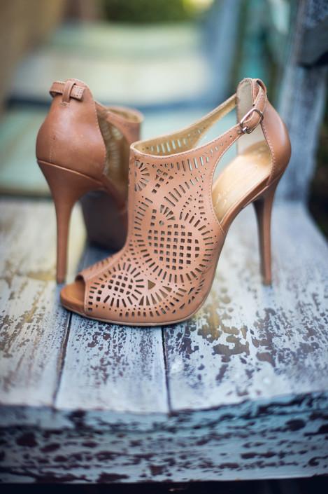 shoes wedding shoot - winding hills golf club