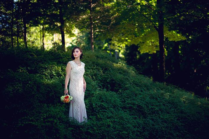 bride wedding shoot - winding hills golf club