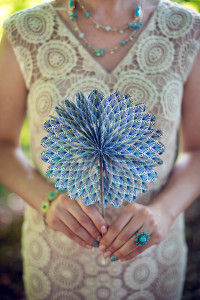 paper fan - wedding shoot
