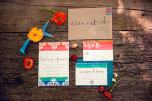 invitation suite by Flyaway Paperworks