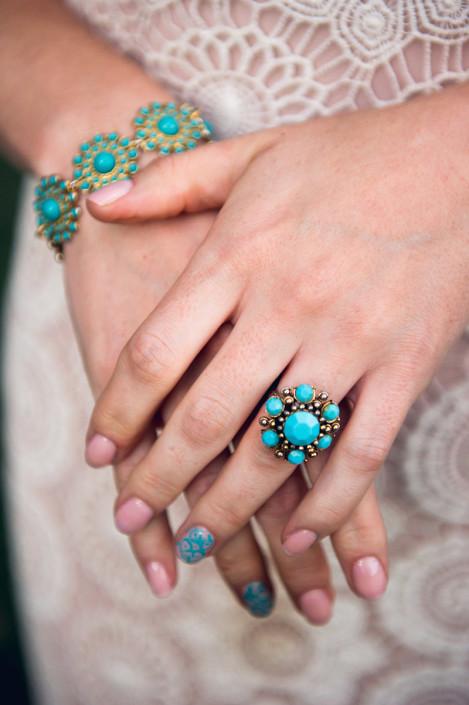 nail art bride - wedding shoot