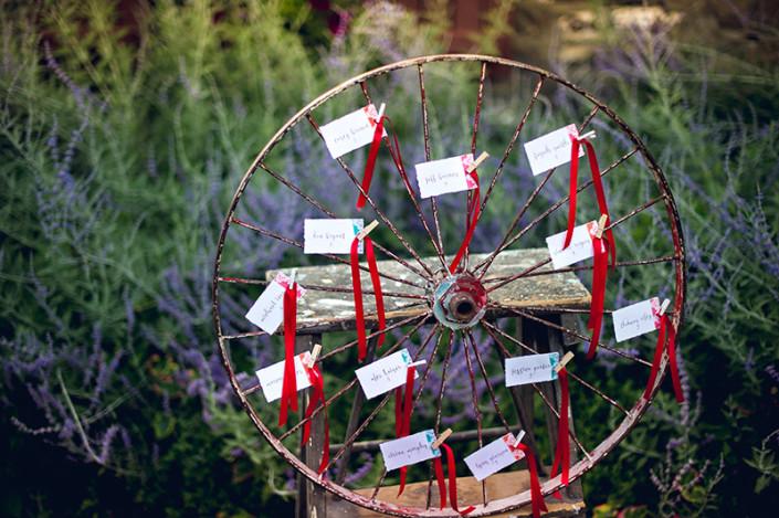 escort card wheel - hudson valley wedding shoot
