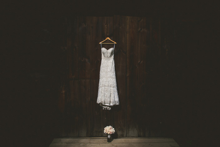 wedding dress - mount gulian barn