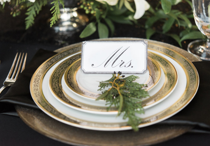 Beacon, NY -Roudnhouse wedding place setting