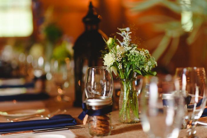 oak hill wedding - table decor