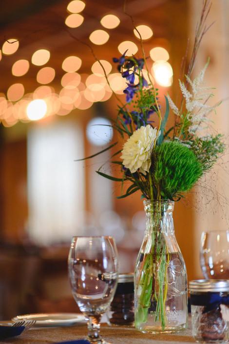 rustic flowers - oak hill wedding