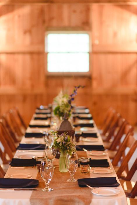 table top design - oak hill wedding
