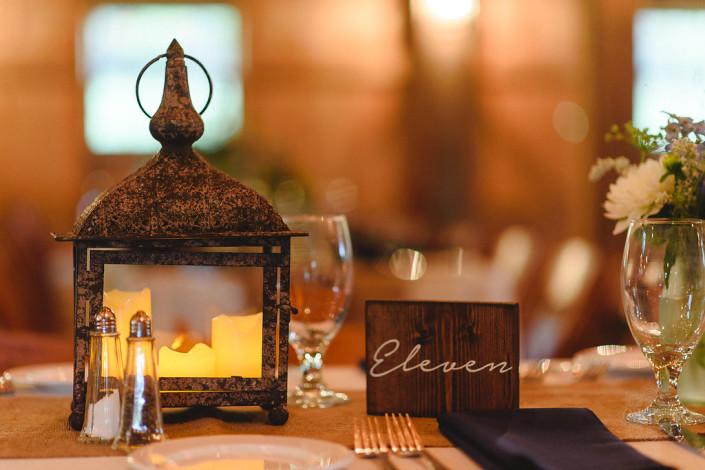 table decor - oak hill wedding