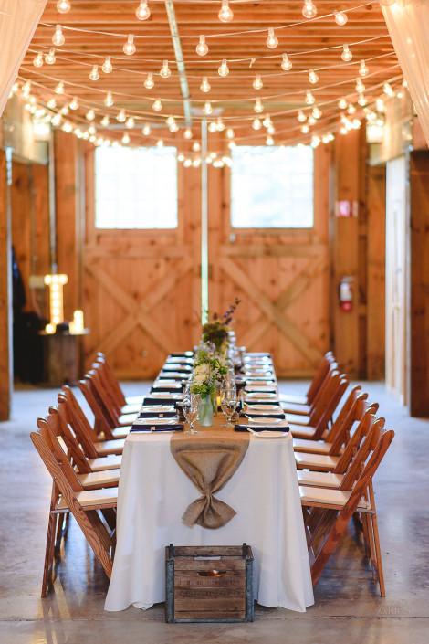 table - oak hill wedding