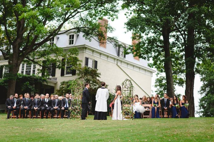 outdoor ceremony - oak hill wedding