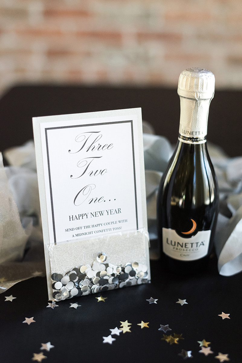 champagne glitter send off - roundhouse wedding