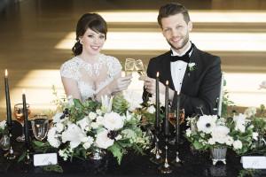 elegant roundhouse wedding