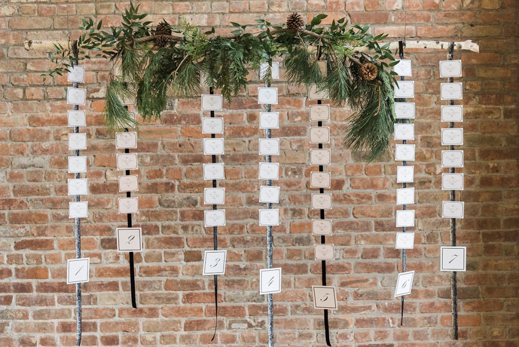 escort cards hanging - roundhouse beacon ny