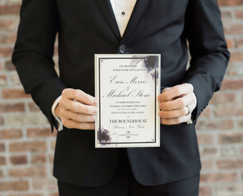 wedding invitation - beacon ny roundhouse