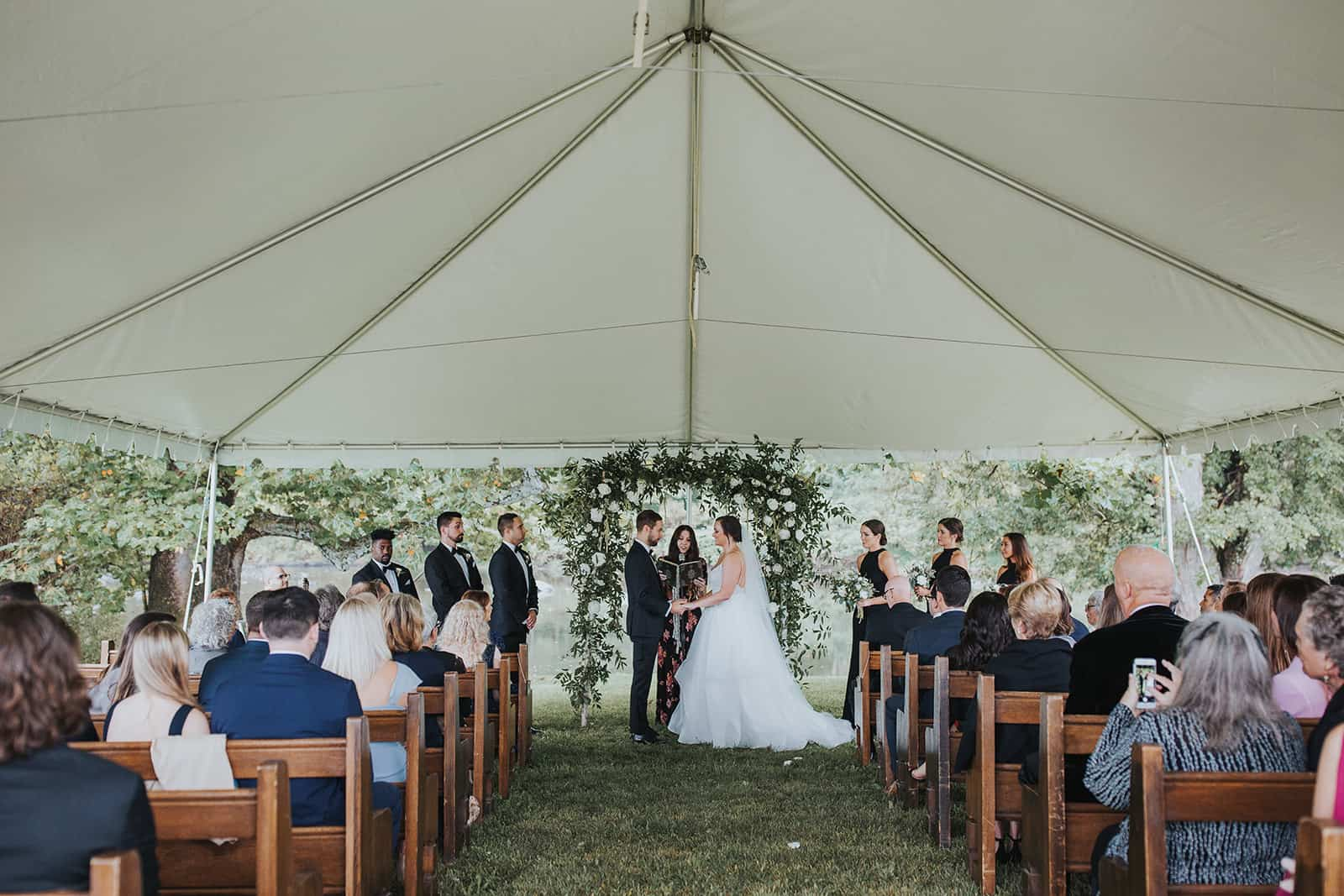 crested hern farms - tent wedding