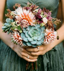 succulent bouquet - seagreen wedding