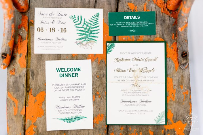 wedding invitation suite - handsome hollow