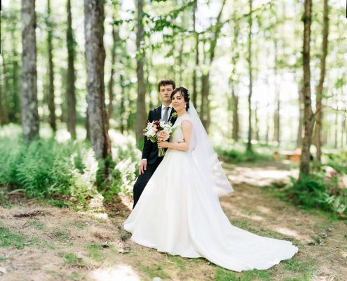 handsome hollow barn - forest wedding - hudson valley