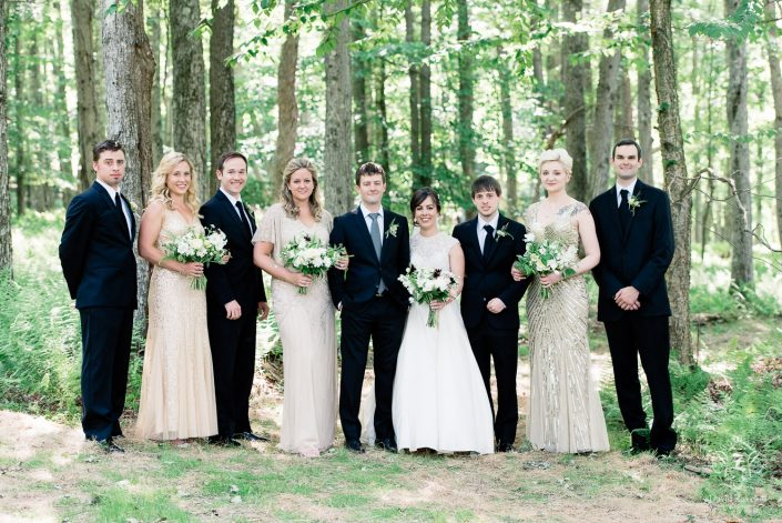 wedding party in the forest - handsome hollow