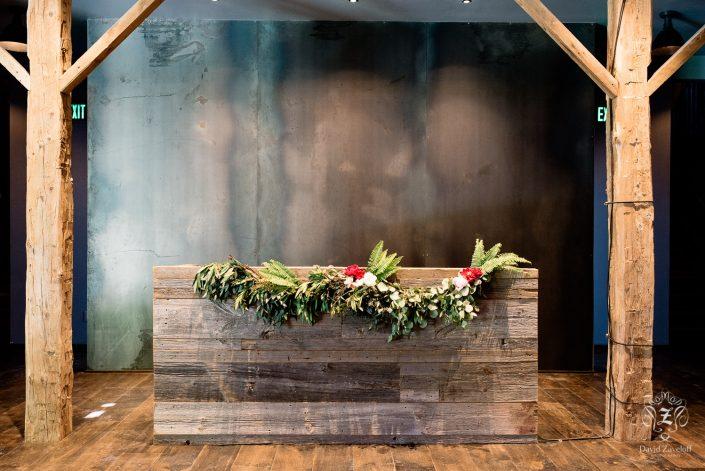 DJ booth - barn wood - handsome hollow wedding