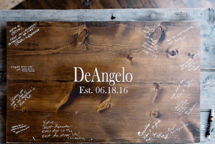 guest book alternative - wood slab