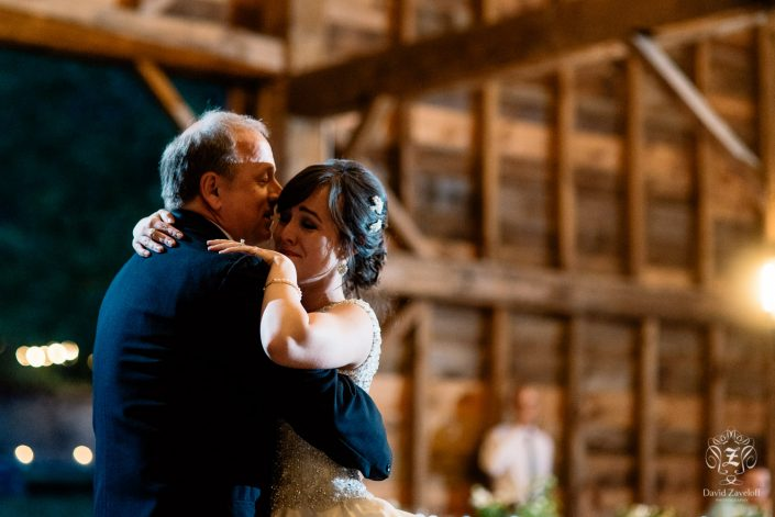 parent dance - bride and dad - handsome hollow