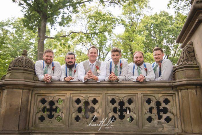 central park wedding - groomsmen