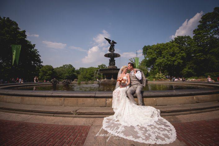fountain - Central Park wedding