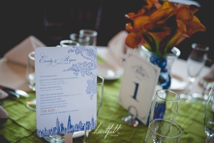 table decor - yacht wedding